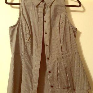 WH/BM: Ladies Sleeveless Silk Blouse Size: Small 6